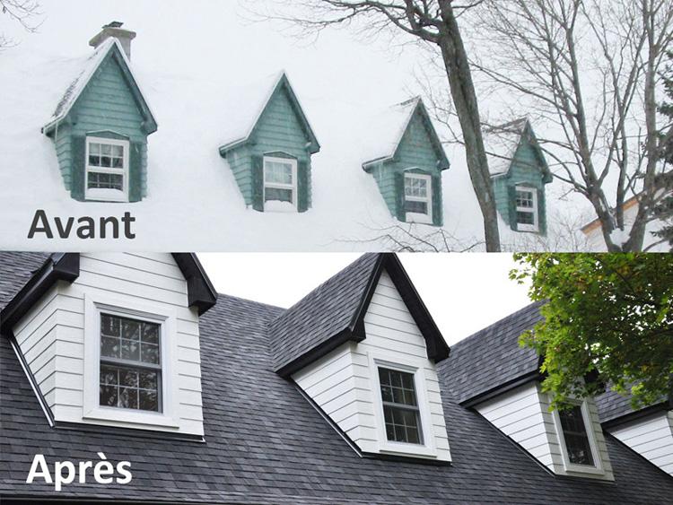 Rénovation majeure - Pignons de toiture